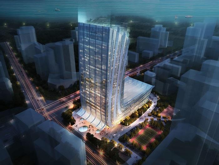 高層日報社辦公樓建筑方案設計(含文本CAD)(1)