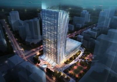高层日报社办公楼建筑方案设计(含jpg文本CAD方案)