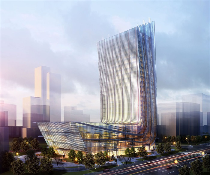 高層日報社辦公樓建筑方案設計(含文本CAD)(2)