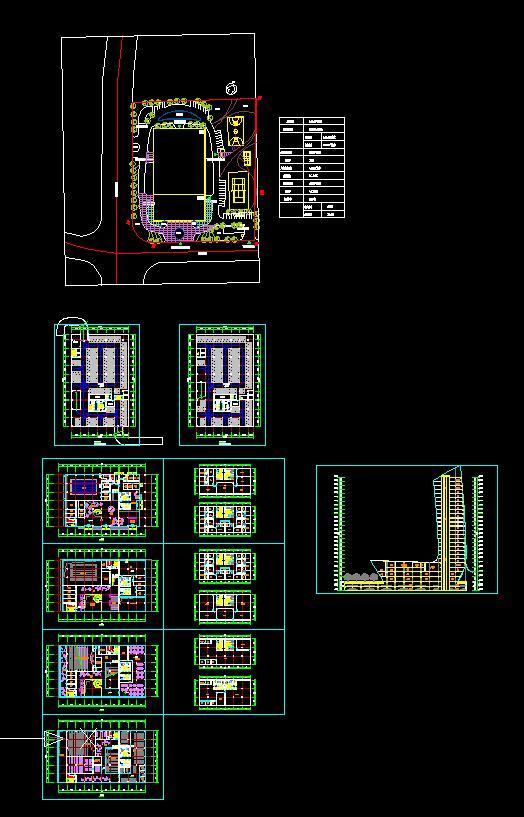 高層日報社辦公樓建筑方案設計(含文本CAD)(4)