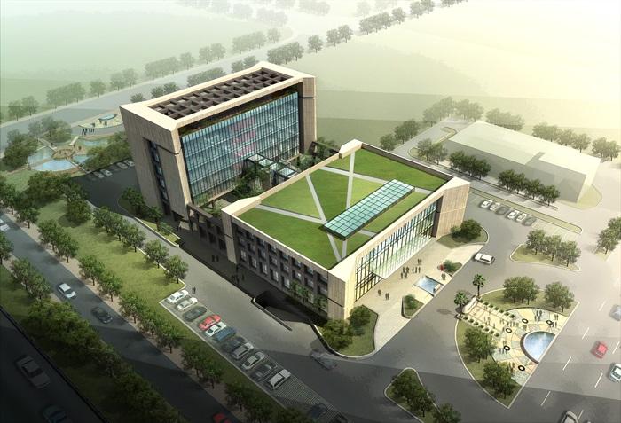 多层办公楼说明方案设计(含CAD、su、效果图标志中的v多层建筑图片