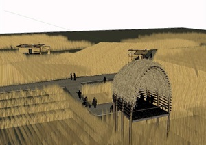 某现代中式风格农业建筑素材SU(草图大师)模型