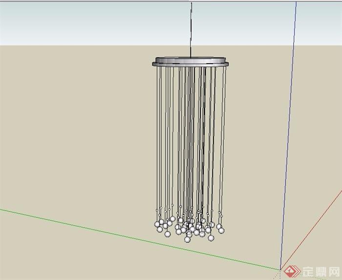 现代独特吊灯素材设计su模型