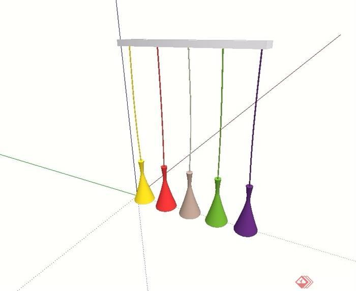 现代风格室内吊灯顶灯素材su模型