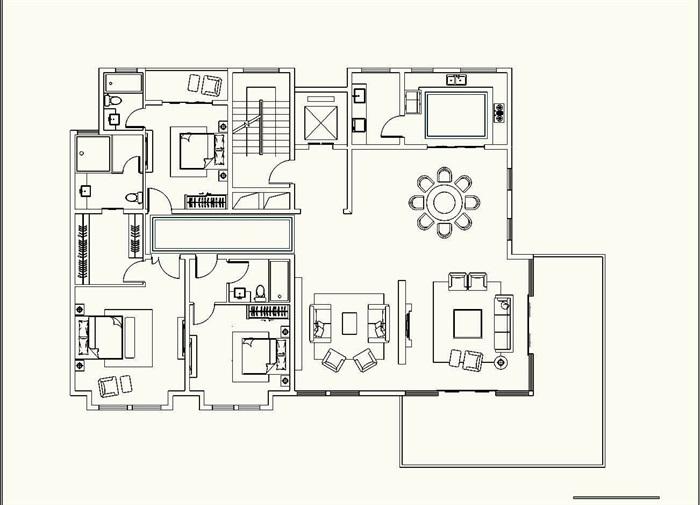 欧式花园洋房住宅建筑设计su模型[原创]