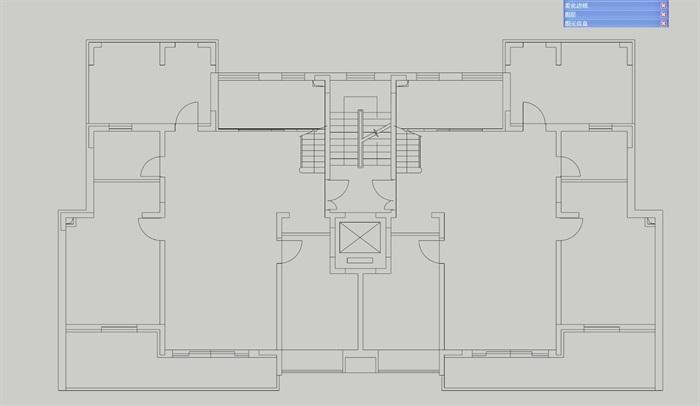 简欧风格花园洋房住宅楼su模型