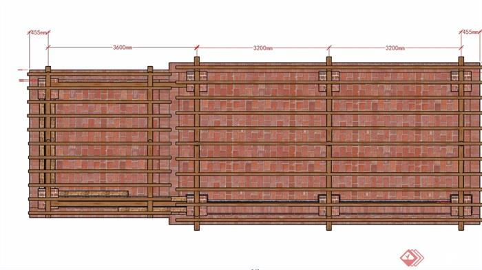 某现代风格详细完整长廊亭su模型