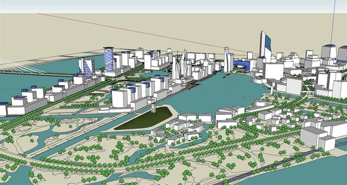 大型水上商业住宅公园城市核心综合体规划(1)