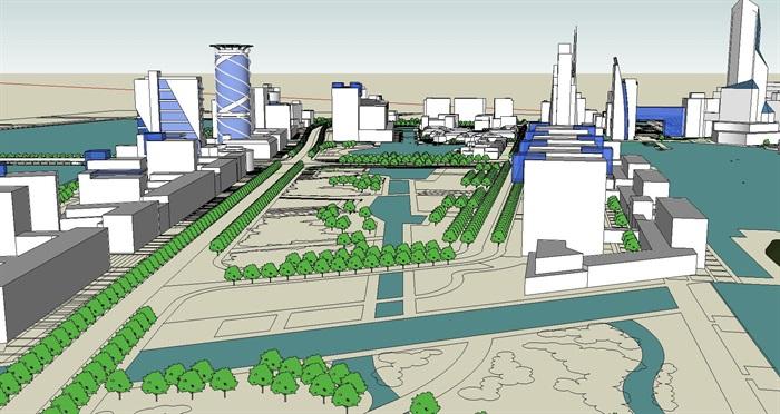 大型水上商业住宅公园城市核心综合体规划(2)