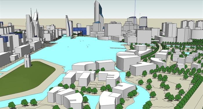 大型水上商业住宅公园城市核心综合体规划(4)