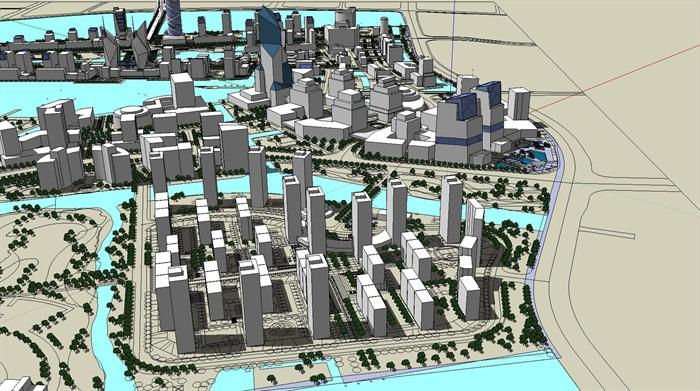 大型水上商业住宅公园城市核心综合体规划(5)
