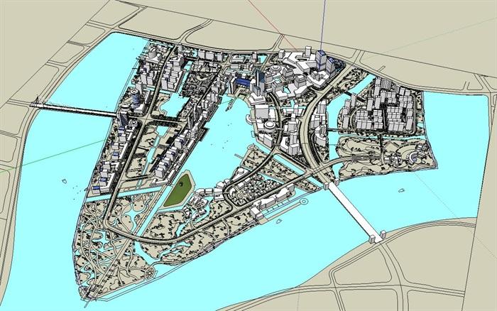 大型水上商业住宅公园城市核心综合体规划(6)