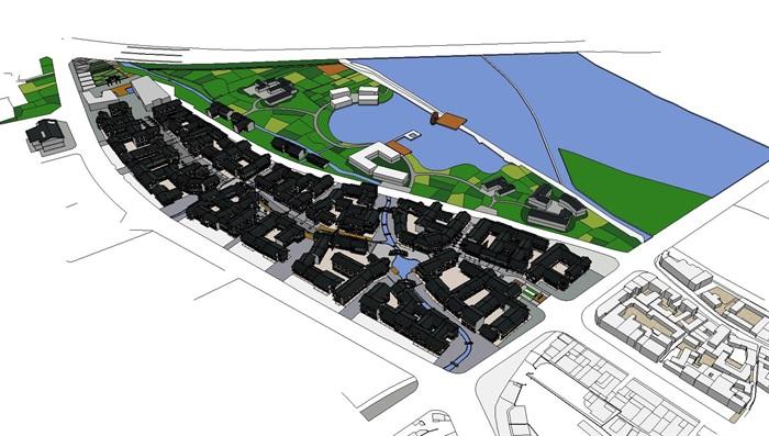 旅游村镇改造中式商业街(2)