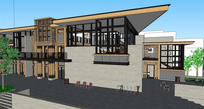 现代工业风木构私人住宅别墅与室内设计(1)