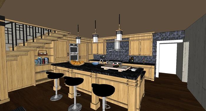 现代工业风木构私人住宅别墅与室内设计(3)