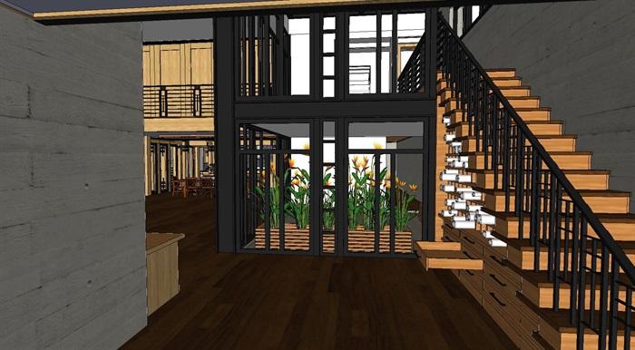 现代工业风木构私人住宅别墅与室内设计(4)