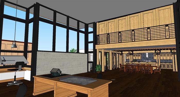 现代工业风木构私人住宅别墅与室内设计(5)