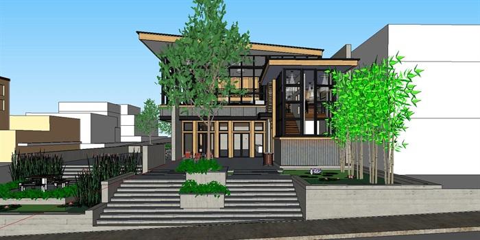 现代工业风木构私人住宅别墅与室内设计(6)