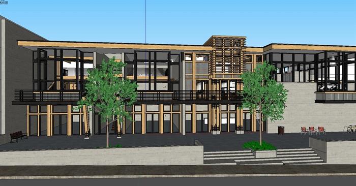 现代工业风木构私人住宅别墅与室内设计(7)