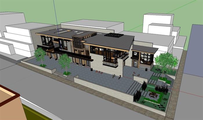 现代工业风木构私人住宅别墅与室内设计(8)