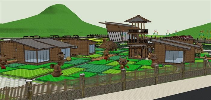 生态旅游乡村农业展示田园综合体(8)