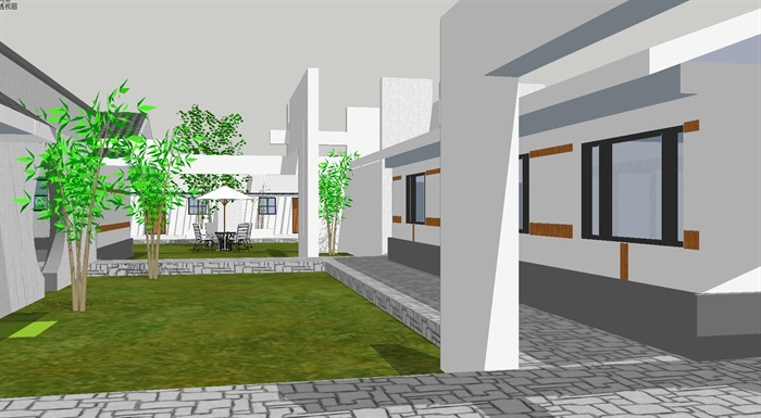 新中式园林布局博物展览文化馆(4)