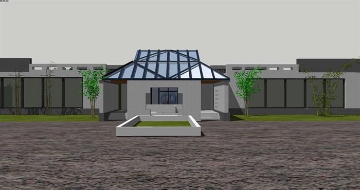 新中式园林布局博物展览文化馆(6)