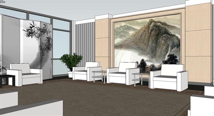 现代暖色调开放式办公工作室内设计(3)