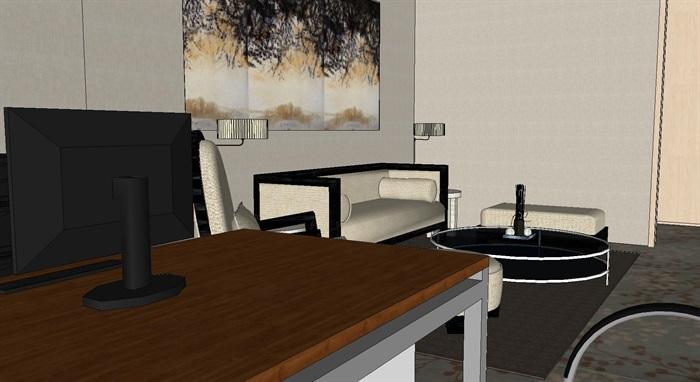 现代暖色调开放式办公工作室内设计(4)