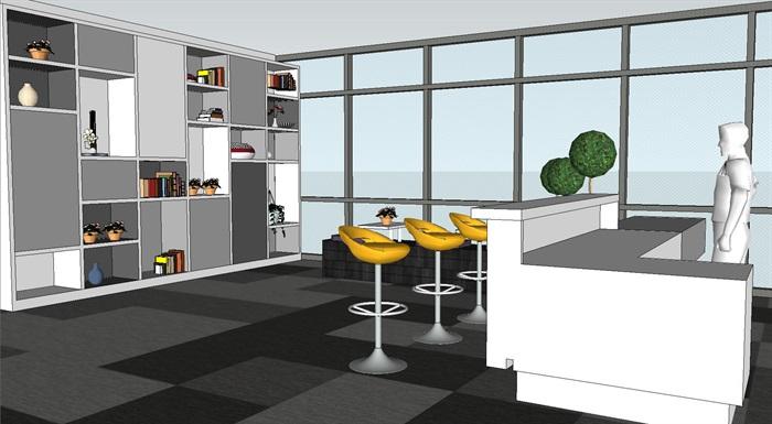 现代暖色调开放式办公工作室内设计(5)