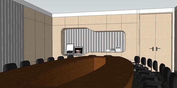 现代暖色调开放式办公工作室内设计(6)