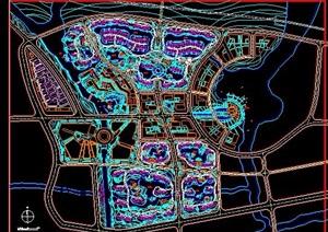 城市设计规划平面图纸