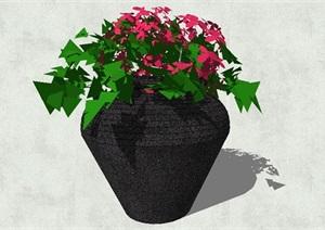 陶罐盆景设计SU(草图大师)模型