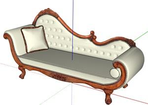 欧式风格详细完整的沙发素材SU(草图大师)模型