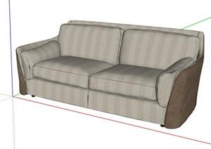 某现代详细室内沙发装饰素材SU(草图大师)模型