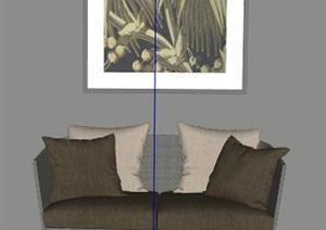 简约室内沙发素材设计SU(草图大师)模型
