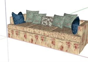 室内详细沙发设计SU(草图大师)模型