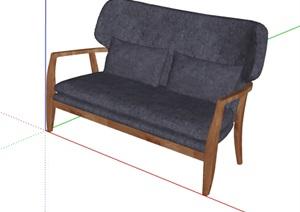 现代风格详细完整室内沙发SU(草图大师)模型