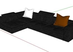 现代风格室内沙发组合SU(草图大师)模型