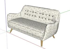 某现代风格室内空间装饰沙发SU(草图大师)模型