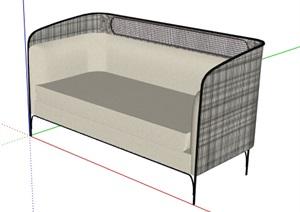 某现代风格室内简单的沙发SU(草图大师)模型