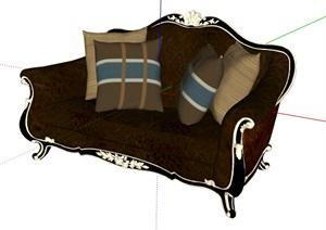 某欧式经典详细的室内沙发SU(草图大师)模型