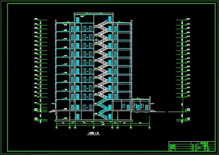 十層框架財貿金融大廈建筑結構設計(建筑結構圖設計任務書建筑設計