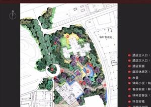某河孔雀城酒店详细景观设计pdf方案深化设计