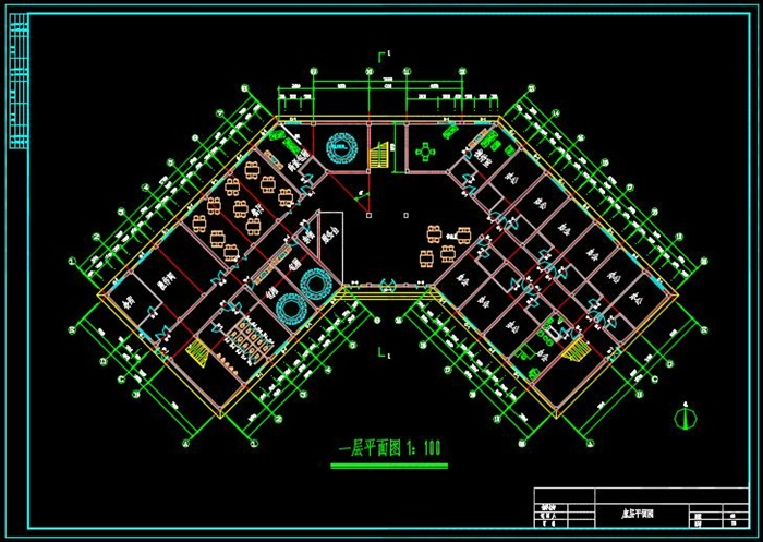 四层框架结构酒店建筑结构设计-4500平 本工程为四层酒店,总建筑面积4500m2左右,建筑高度为22.85米,建筑结构形式为框架结构,建筑设计等级为3级,耐火等级为2级,屋面防水等级为3级,抗震7度。 首层、二层设有餐厅、办公。三层、四层设有标间、洗浴及娱乐。 全套图纸包括建筑设计说明、各层平面图、立面图、剖面图、节点详图。结构设计说明、基础布置图、基础详图、框架图、柱平法施工图、梁配筋平面图、结构平面图等。