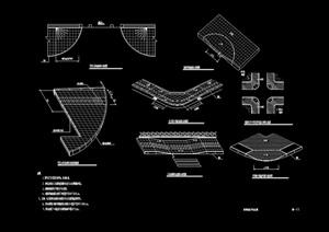 现代风格无障碍设计cad施工图