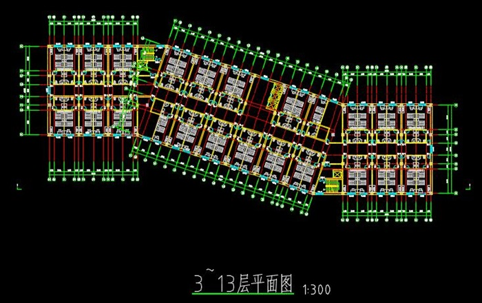 二十一层酒店建筑方案图(含CAD图+PSD效果图+su模型+排版JPG)-约53400平(5)
