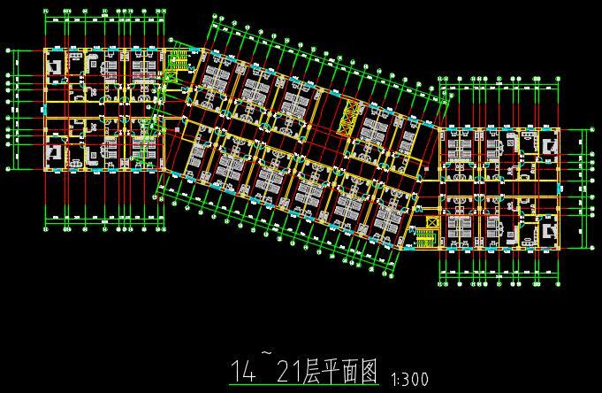 二十一層酒店建筑方案圖(含CAD圖+PSD效果圖+su模型+排版JPG)-約53400平(6)