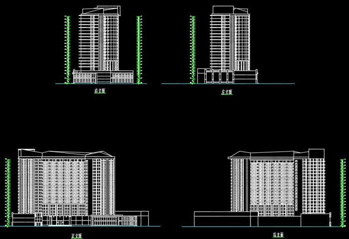 二十一层酒店建筑方案图(含CAD图+PSD效果图+su模型+排版JPG)-约53400平(7)