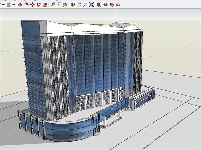 二十一层酒店建筑方案图(含CAD图+PSD效果图+su模型+排版JPG)-约53400平(9)